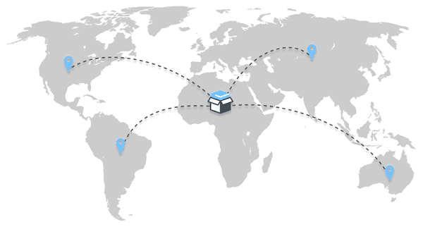 Global world logistics routes